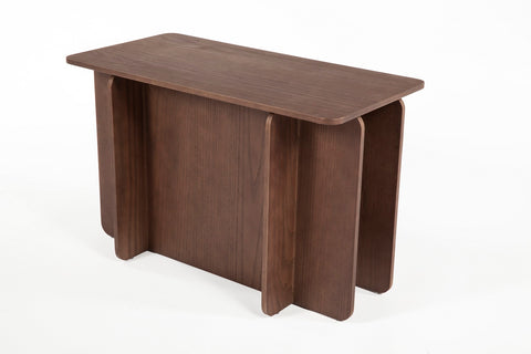The House of Cards End Table - Short [FST0042WALNUT] 2