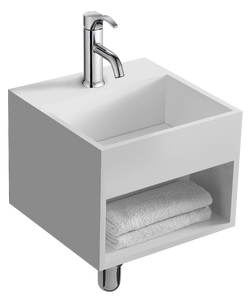 The Lothar True Solid Surface Sink and Cabinet [BW5383MW]