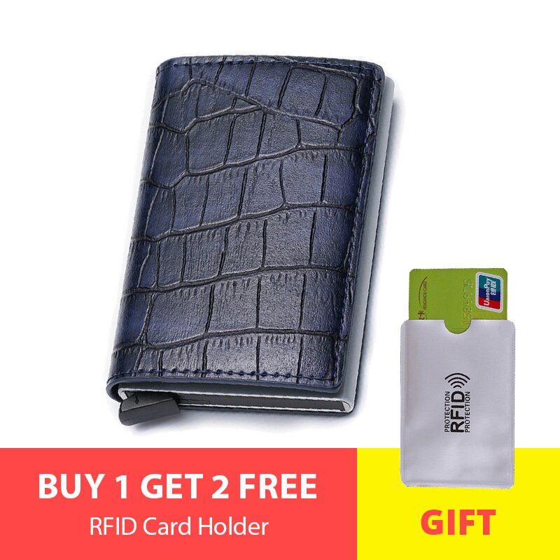 Anti id Credit Card Holder Rfid Blocking Wallet - Lellasbags