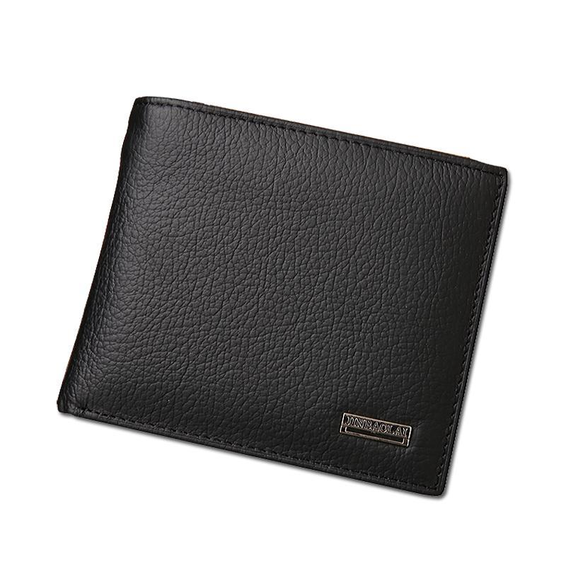 100% Genuine Leather Casual Solid Wallets - Lellasbags