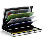 Solid Stainless Steel Credit Card Holder - Lellasbags