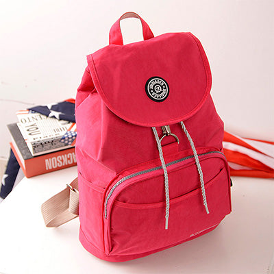 Preppy Style Waterproof Nylon Backpack - Lellasbags