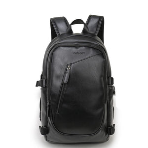 Air Cushion Belt Waterproof Leather Backpacks - Lellasbags