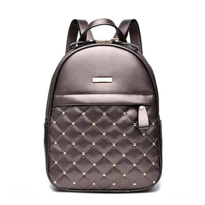 Embossing Technic PU Leather Backpacks - Lellasbags