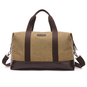 Patchwork Pattern Large Capacity Canvas Travel Bags - Lellasbags
