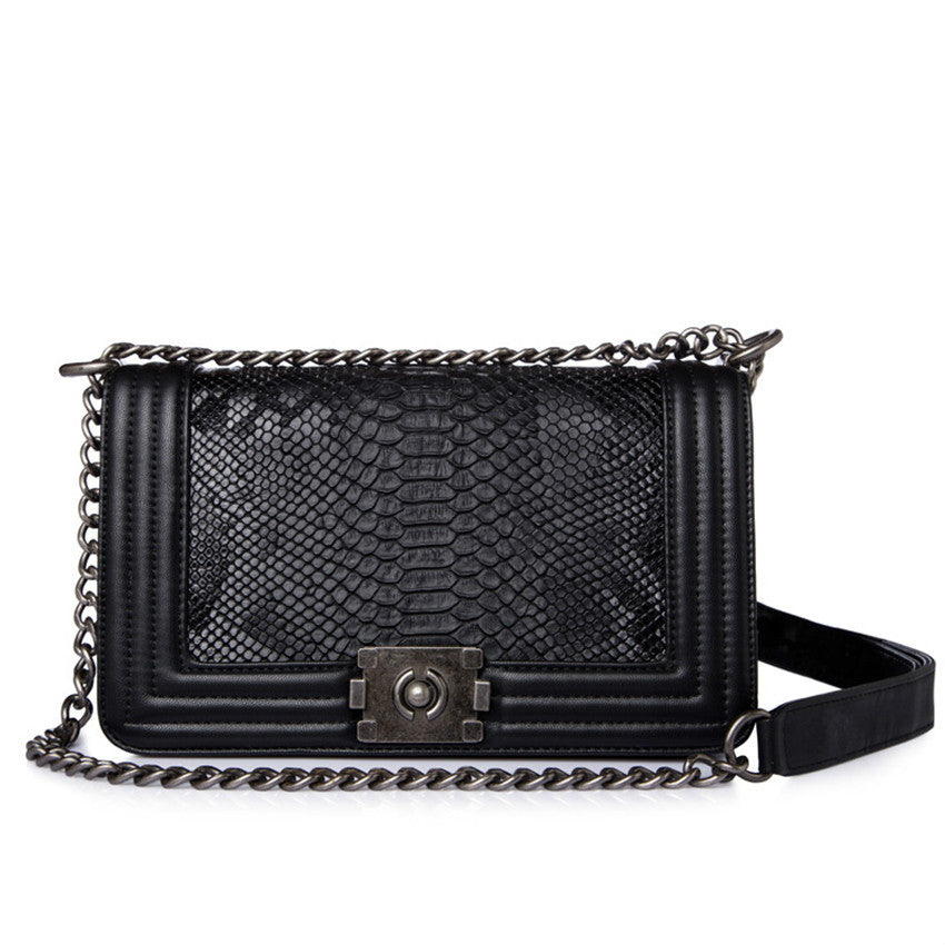 Promotional PU Leather Chain Shoulder Bag - Lellasbags