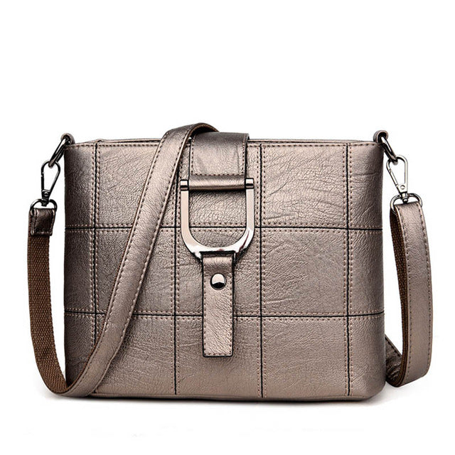Thread Pattern Luxury Leather Shoulder Bags - Lellasbags
