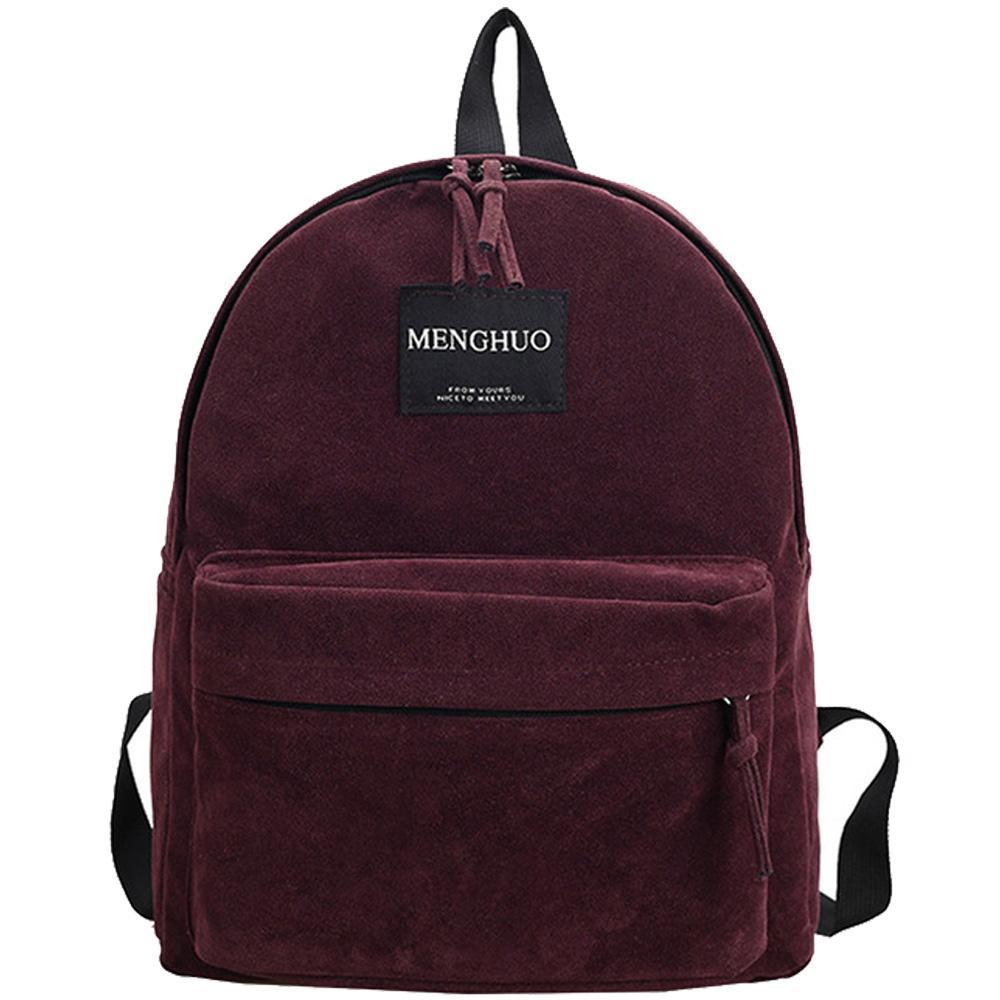 Jacquard Technics Preppy Suede Backpacks - Lellasbags