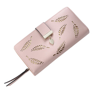 Hollow Out Women Leather Wallet - Lellasbags