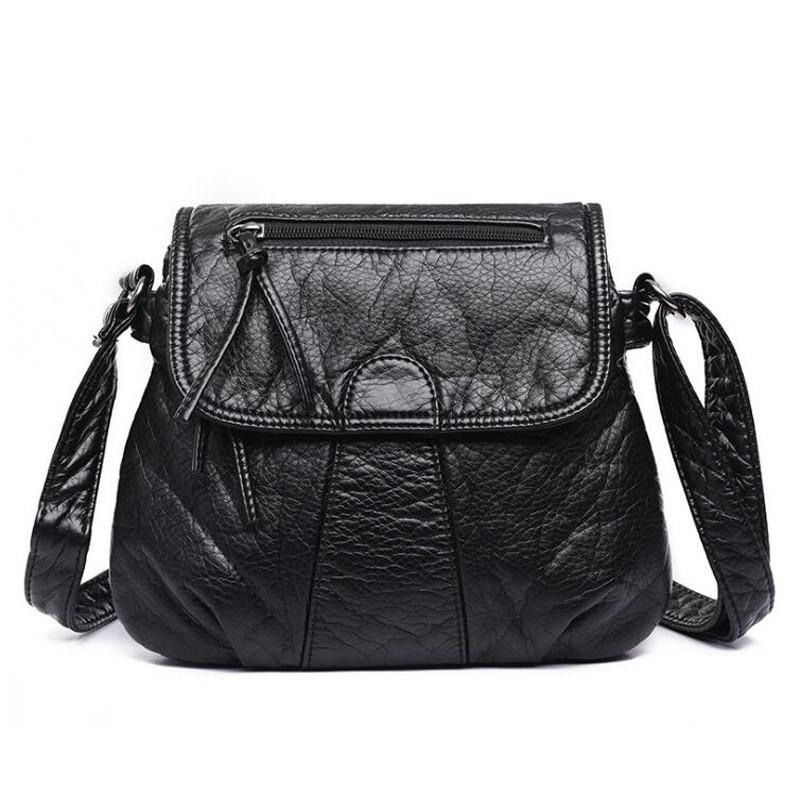 Flap Shape PU Leather High Quality Crossbody Bags - Lellasbags