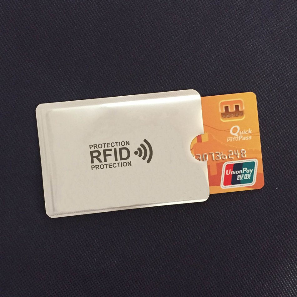 Anti Rfid Wallet Blocking Reader Lock Card Holder - Lellasbags