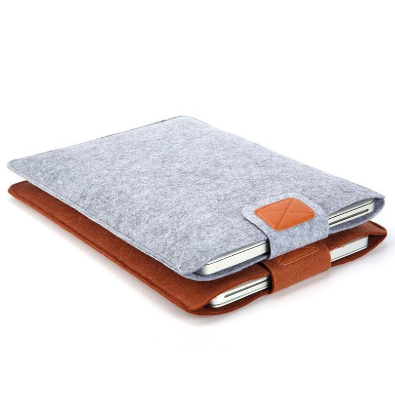 Wool Felt Inner Notebook Laptop Sleeve Bag - Lellasbags