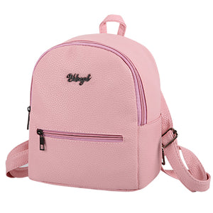 PU soft leather women casual backpacks - Lellasbags
