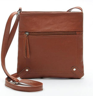 Leather Crossbody Shoulder Bag - Lellasbags