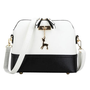 Deer Spliced Collision Color Crossbody Bag - Lellasbags