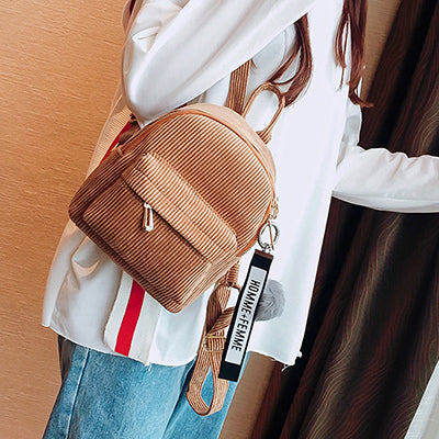 Cute Arcuate Shoulder Strap Backpack - Lellasbags