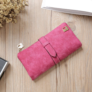 Sequined Decorated Luxury Brand Matte Leather Wallet - Lellasbags