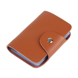 Cow Leather Name Bank Credit Card Holder - Lellasbags