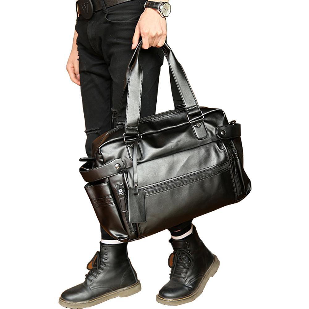 Young Fashion Leather Vintage Travel Bag - Lellasbags