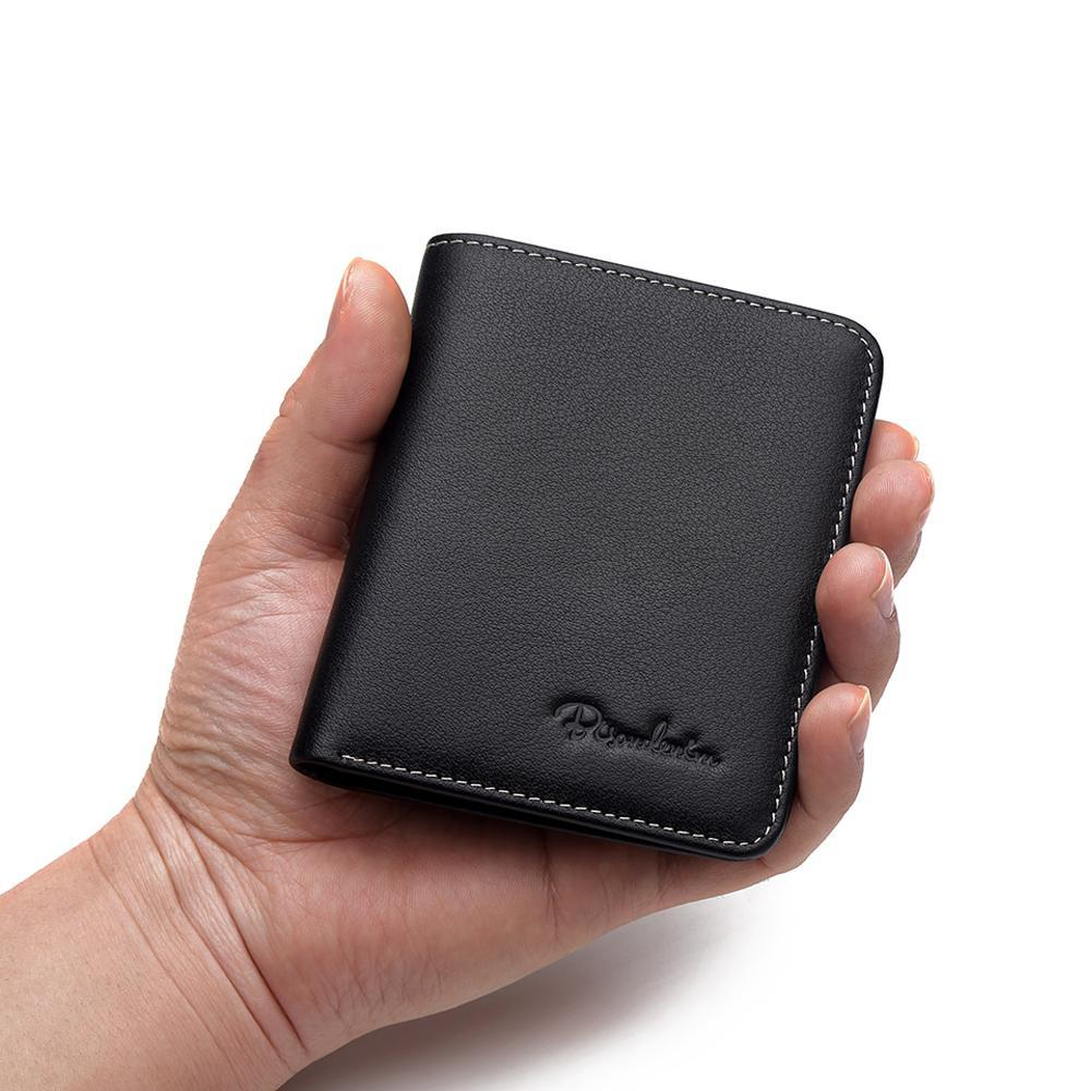 Cowskin Soft Mini Genuine Leather Wallets - Lellasbags