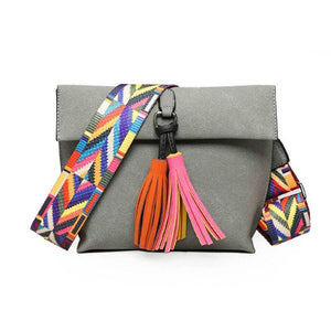 Hasp Closure Tassel Crossbody Bags - Lellasbags