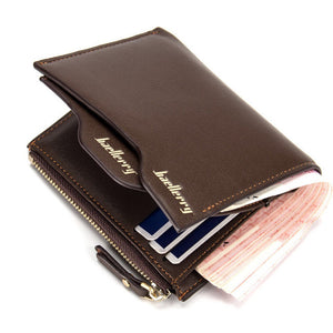 England Style Short Section Portfolio Card Wallet - Lellasbags