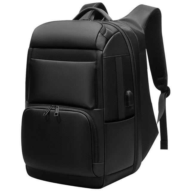 "Men Travel Backpack Large Capacity Anti-thief Bag USB Charging 17.3"" Laptop Backpack Waterproof - Lellasbags"