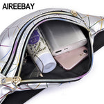 Holographic Waist Bags Women Pink Silver Fanny Pack - Lellasbags