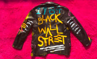 ZACHARY BXLLION BLACK WALL STREET LEATHER JACKET (1/1)