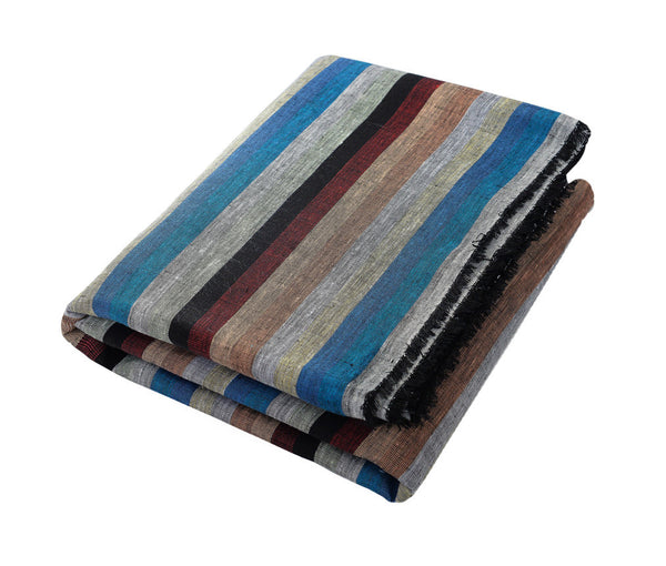 Jean; Multi Stripe, Red, Teal, Green, Blues, Orange, Beach Towel