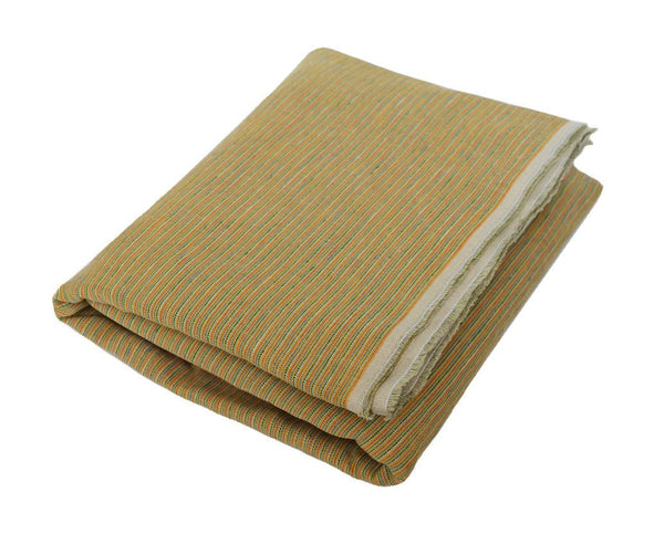 Kees: Classic Yellow Striped Linen Beach Towel - Deck Towel