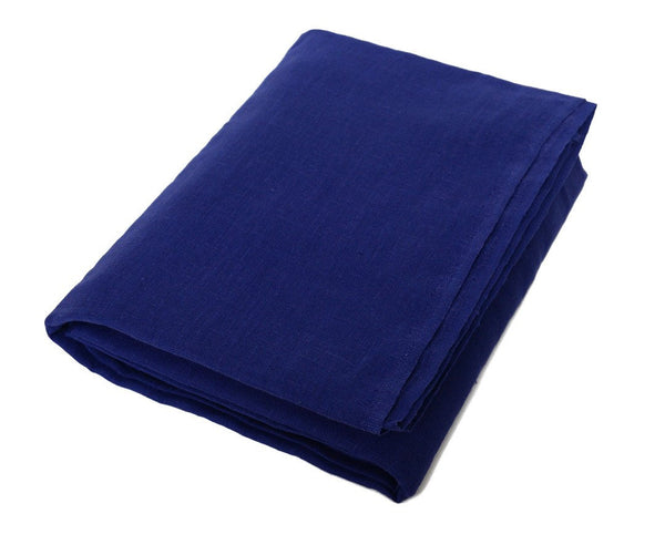 Frederik: Royal Blue Linen Beach Towel - Deck Towel