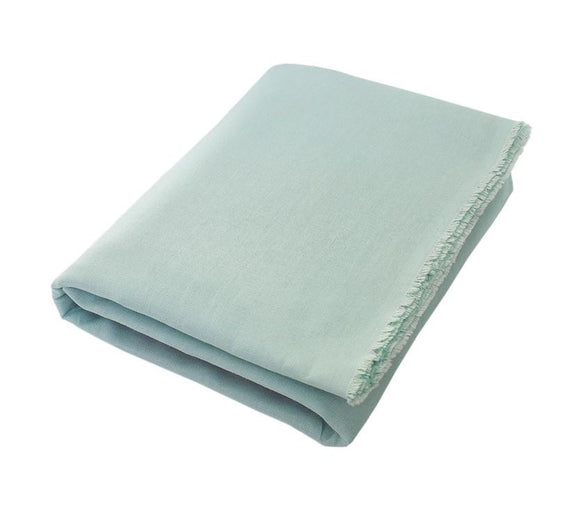 Margaux; Mint Green Pastel, Linen Beach Towel - Deck Towel