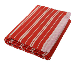 Norbert: Rich Red and White Linen Beach Towels - Deck Towel