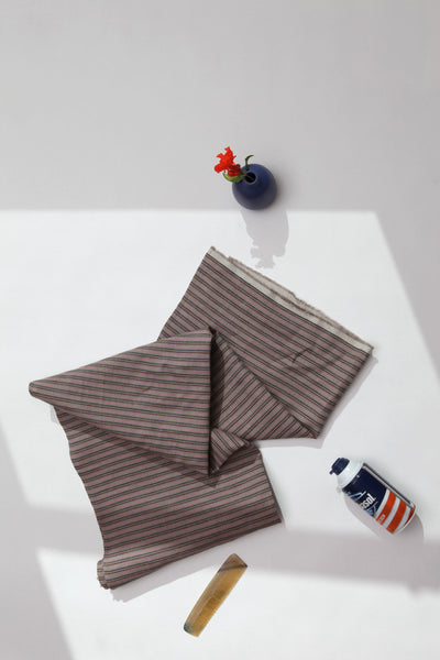Enzo Bath TowelEnzo: Simple Stripes On Gray Bath Towels - Deck Towel