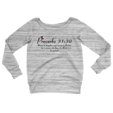 Picture of Womens Proverbs 31:30 Wide Neck Sweater