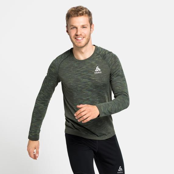 Odlo Men's Blackcomb Ceramicool Running Long-Sleeve T-Shirt