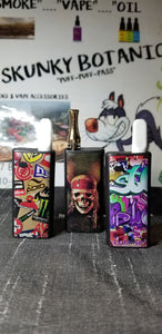 "Vape mod pre-filled with 1500mg vape e-juice - ""SKUNKY BOTANICS"""