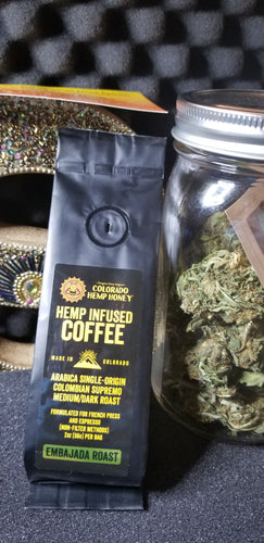 Cbd infused roasted coffee beans relaxinf and full of flavor