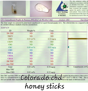 Colorado honey sticks raw cbd