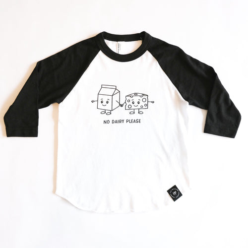 Dairy (Milk) Allergy Baseball Tee