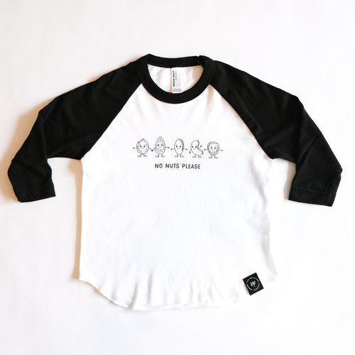 Tree Nut Allergy Baseball Tee