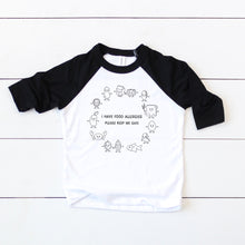 Load image into Gallery viewer, General Allergy Baseball Tee - Youth