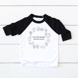Food Allergy Baseball Tee - Youth