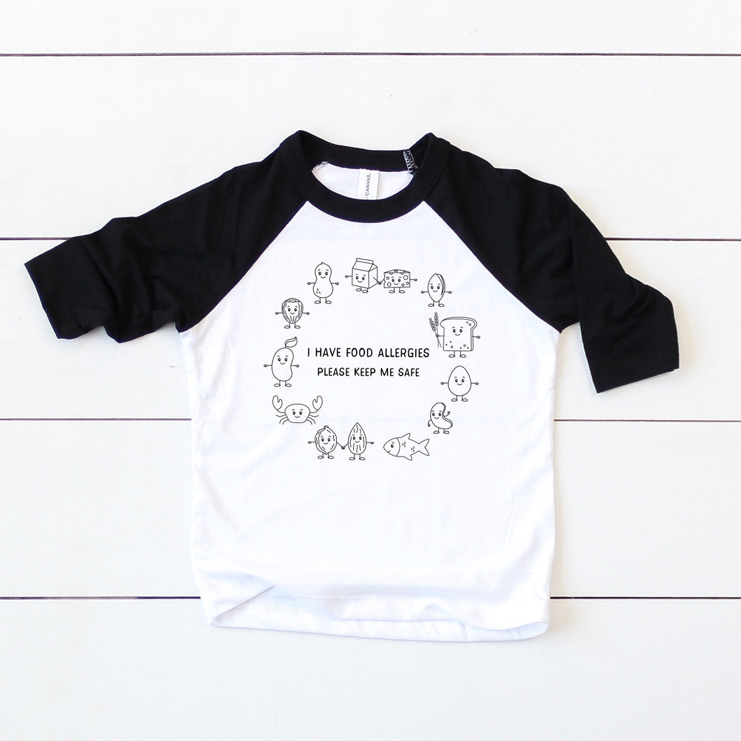 General Allergy Baseball Tee - Youth
