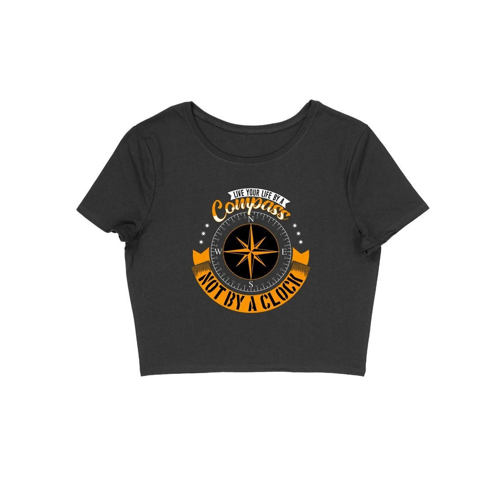 Compass Design Crop Top - ALL MY WISH