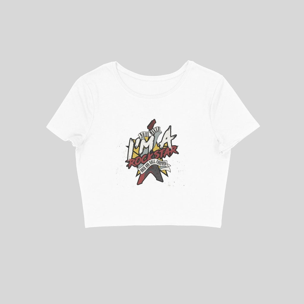 I'M A Rockstar Crop Top - CT00003 - ALL MY WISH