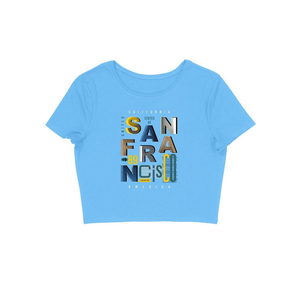 Sanfrancisco Crop Top - CT00028 - ALL MY WISH