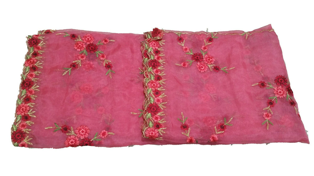 Embroidered Organza Dupatta - D00001 - ALL MY WISH