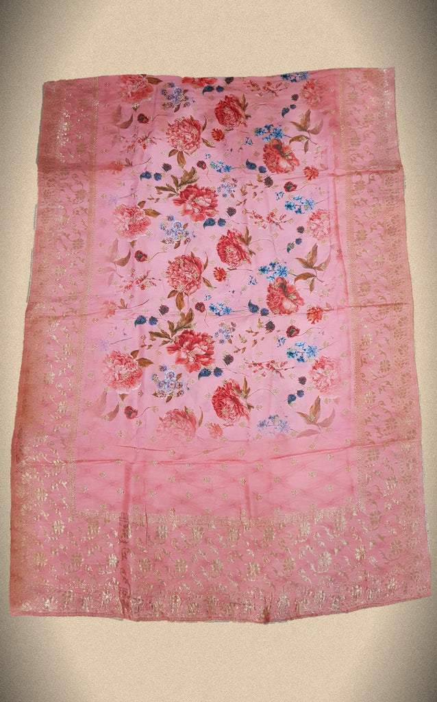 Floral Opara Soft Silk Brocade Banarasi Dupatta - DP00010 - ALL MY WISH